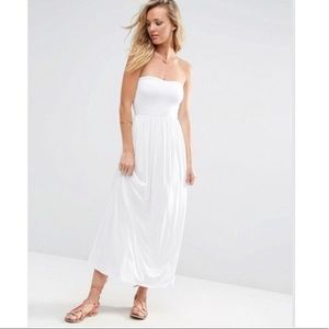 ASOS white maxi dress sz 8